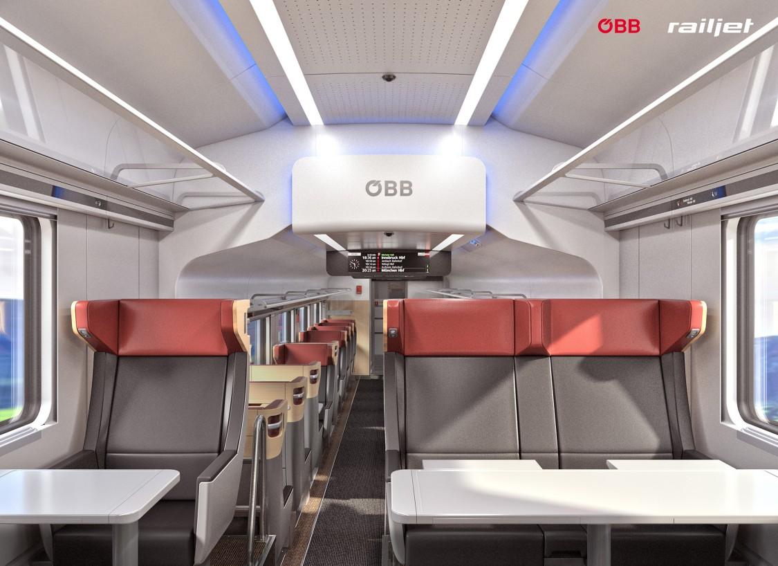 Neue ÖBB-Garnituren für den Tag- und Nachtverkehr - Business Abteil