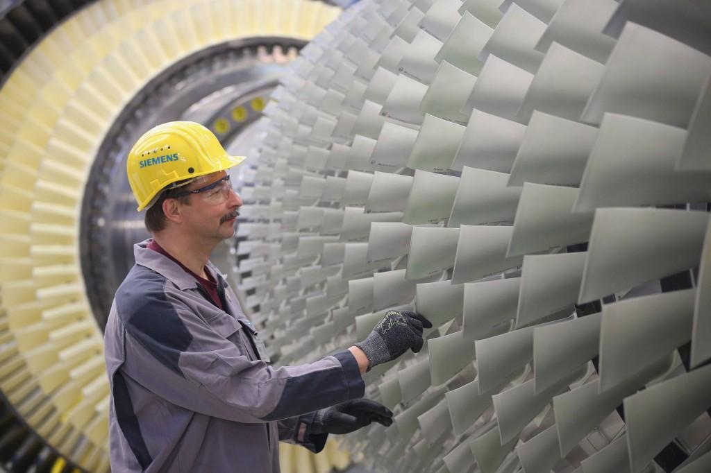 Siemens gas turbine plant Berlin/Germany