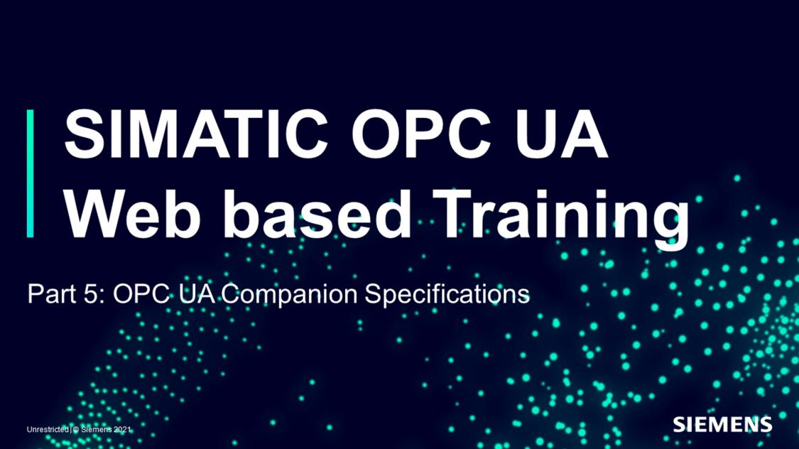 SIMATIC OPC UA - Web training part 5