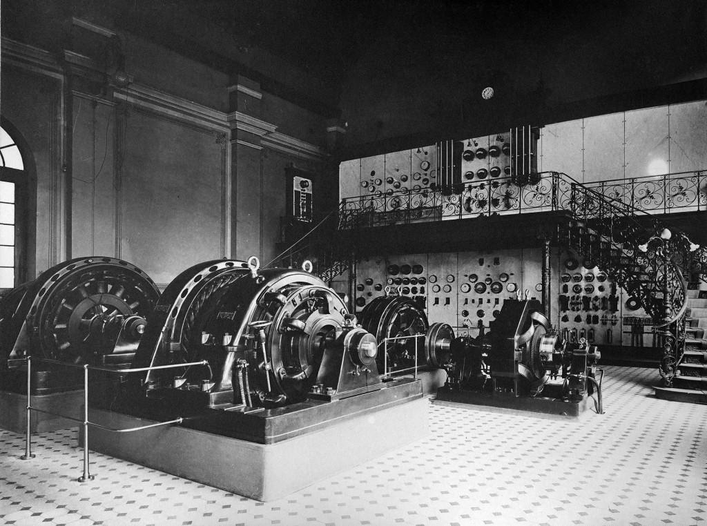 Alte Aufnahme aus dem Stuttgarter Elektrizitätswerk