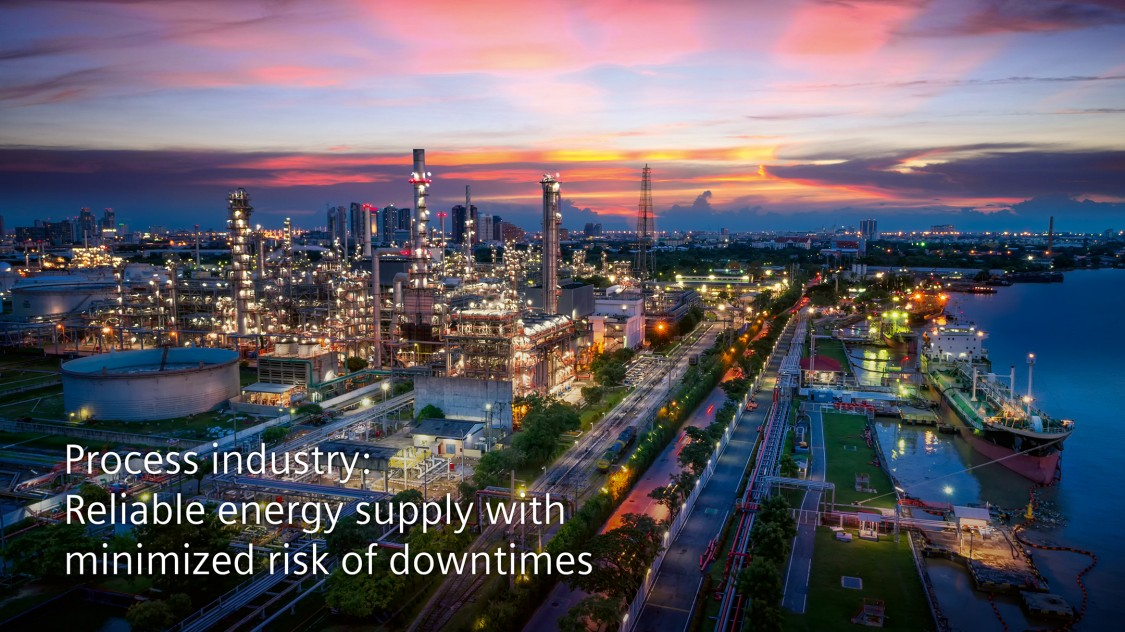 Process industry: Reliable energy supply with minimized risk of downtimes