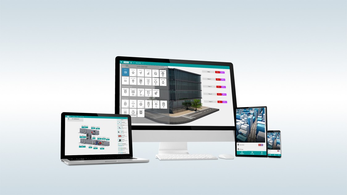 Desigo Optic was developed with a mobile-first strategy with mobile and desktop functionality