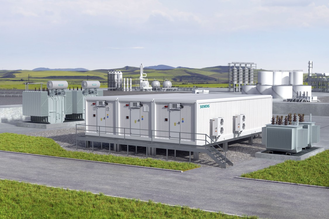 Siemens E-House: Pre-assembled modular power substation