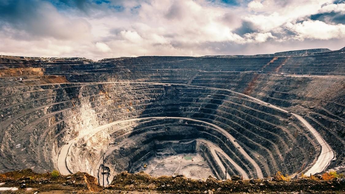 The Olimpiada open-pit gold mine located in Krasnoyarsk, Russia