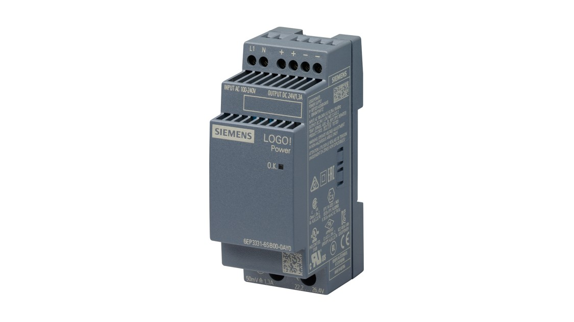 Product image LOGO!Power, 1-phase, 24 V/1.3 A