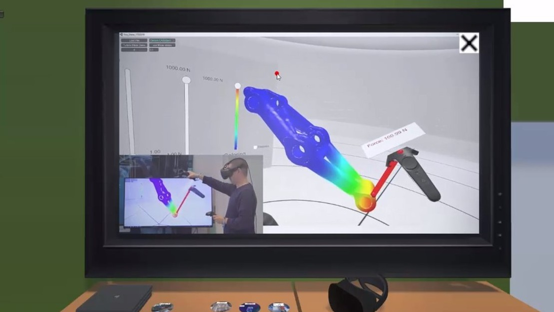 In der Videoecke: hier kann man sich im virtuellen Raum über virtuelle Möglichkeiten informieren.