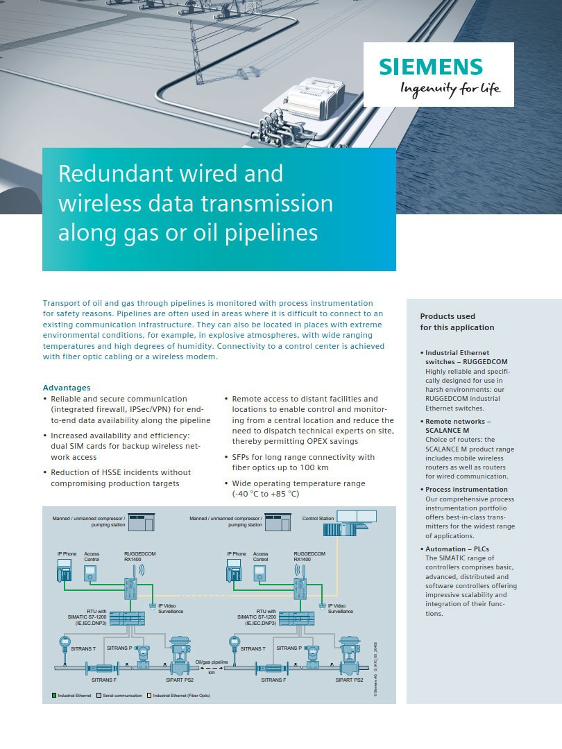 Industrial Communications | Oil and Gas | Siemens