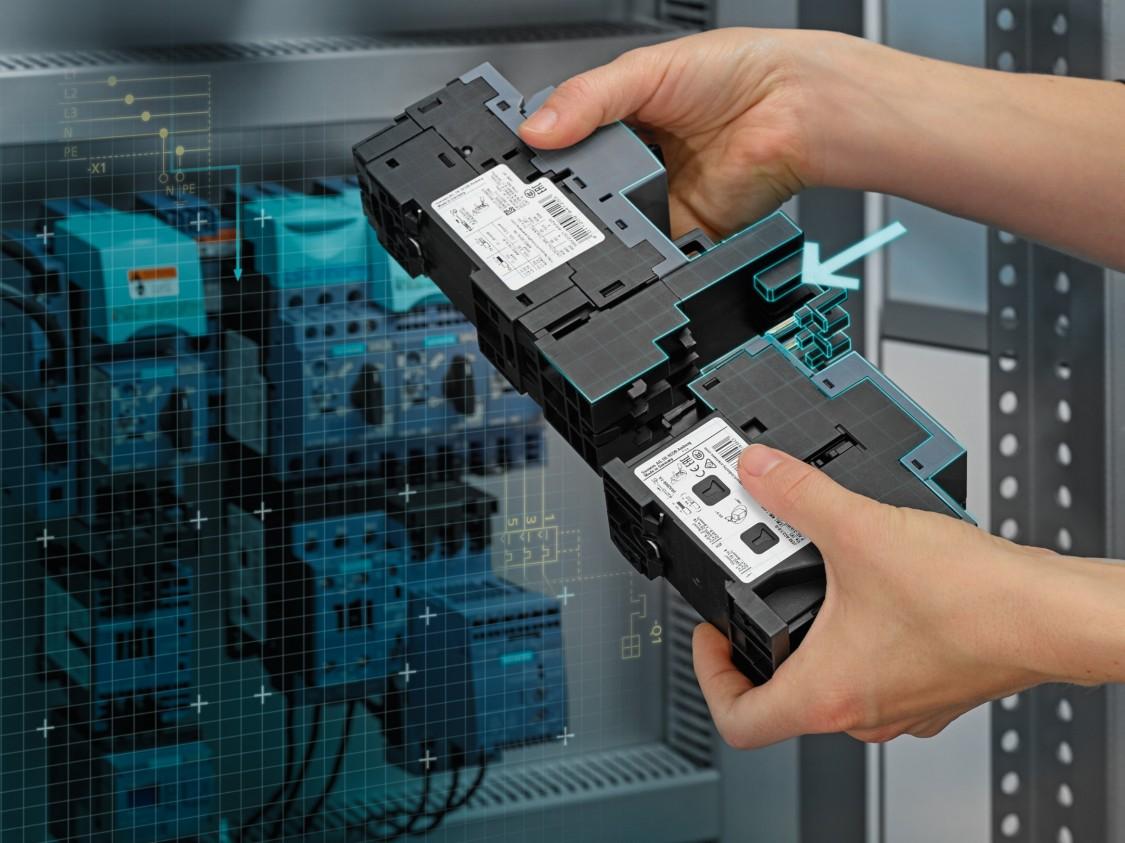 SIRIUS 3RV modulaire opbouw via verbindingskammen en veerklemtechniek