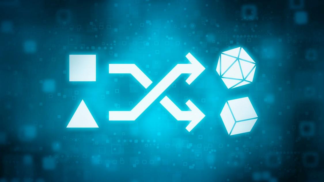 Ein blaues digitales Symbol veranschaulicht die Entwicklung der Technologie in der Mobilität