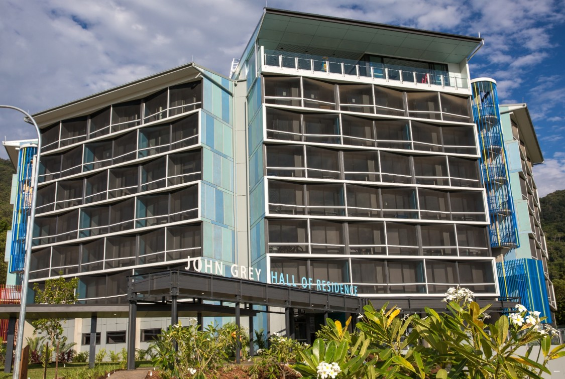 Hall of residence at James Cook University, in Queensland