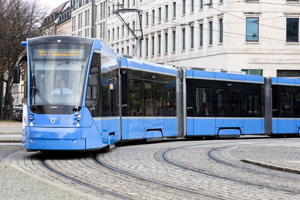 All trams in service in Munich