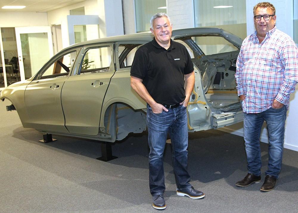Teamsters försäljningschef Peter Ljungberg och vd Ulf Mill i Teamsters kontor i Klippan i Göteborg.