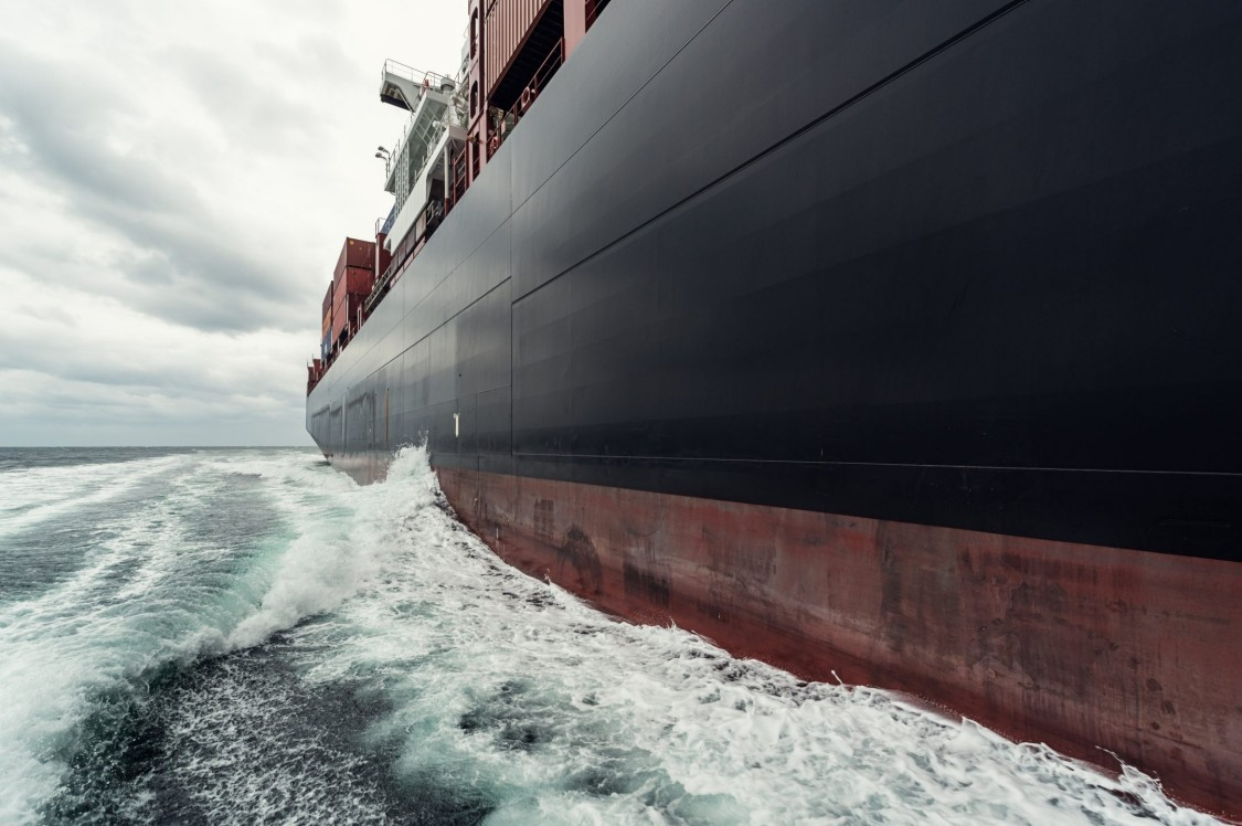 USA   Container ship representing case study for marine industry