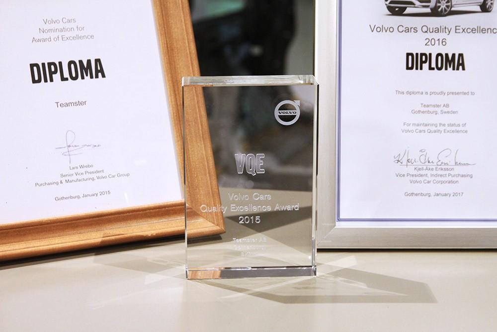 Teamster har fått utmärkelser för 2015, 2016 och 2017.