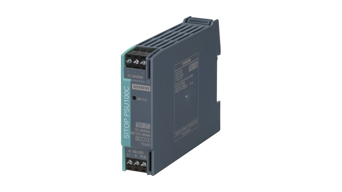 Produktbild SITOP PSU100C, 1-phasig, DC 24 V/0,6 A