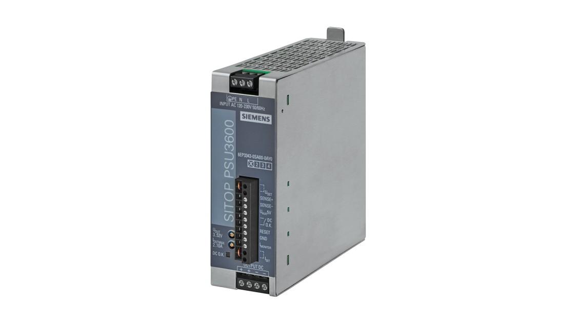 SITOP PSU3600 flexi、単相、DC 3-52 V/10 A、120 Wの製品画像