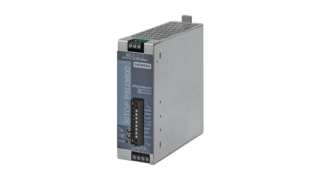 Product image SITOP PSU3600 flexi, 1-phase, DC 3-52 V/10 A, 120 W