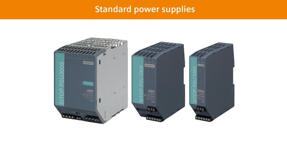 Standard power supplies SITOP smart
