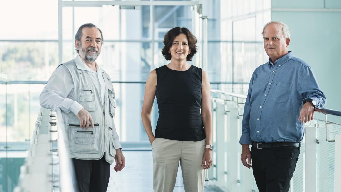 Tali Segall, Eitan Carmi und Rafi Blumenfeld