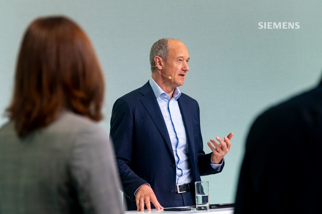 Siemens AG's Capital Market Day on June 24, 2021, at the company's headquarters in Munich: All Siemens AG Managing Board members answering analysts' questions at the close of the event. Pictured here: Roland Busch, Siemens President and CEO