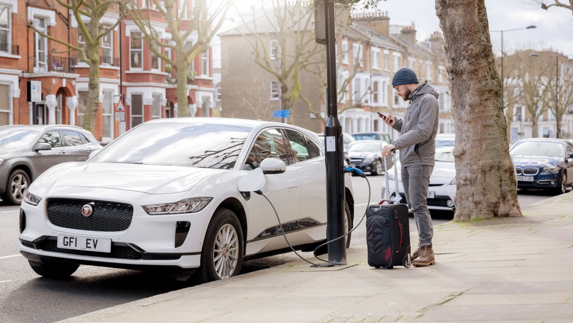EV charging point in London
