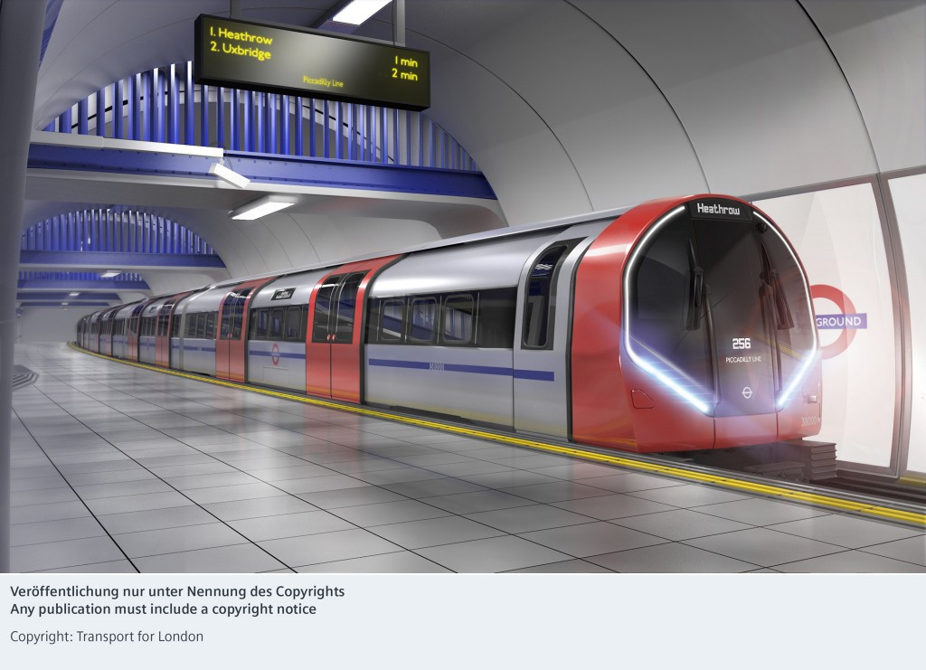 Siemens Mobility secures major order to manufacture a new generation of Tube trains in London