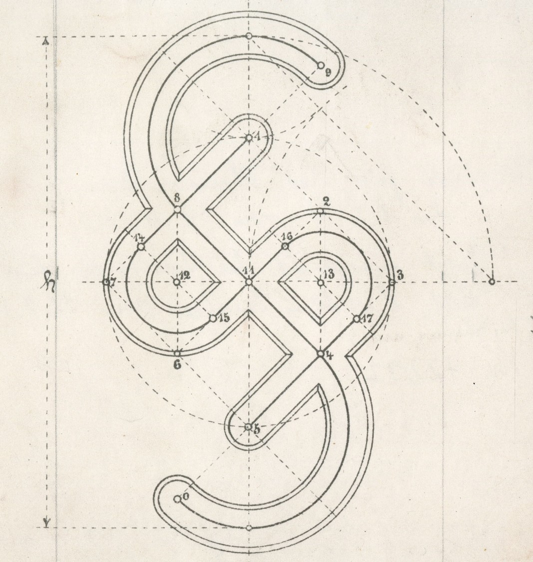A drawing of the house mark for Siemens-Schuckertwerke