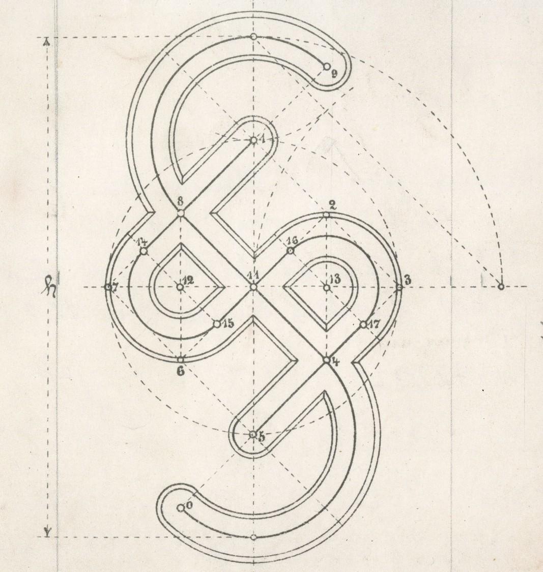 Entwurf des Firmenzeichens der Siemens-Schuckertwerke
