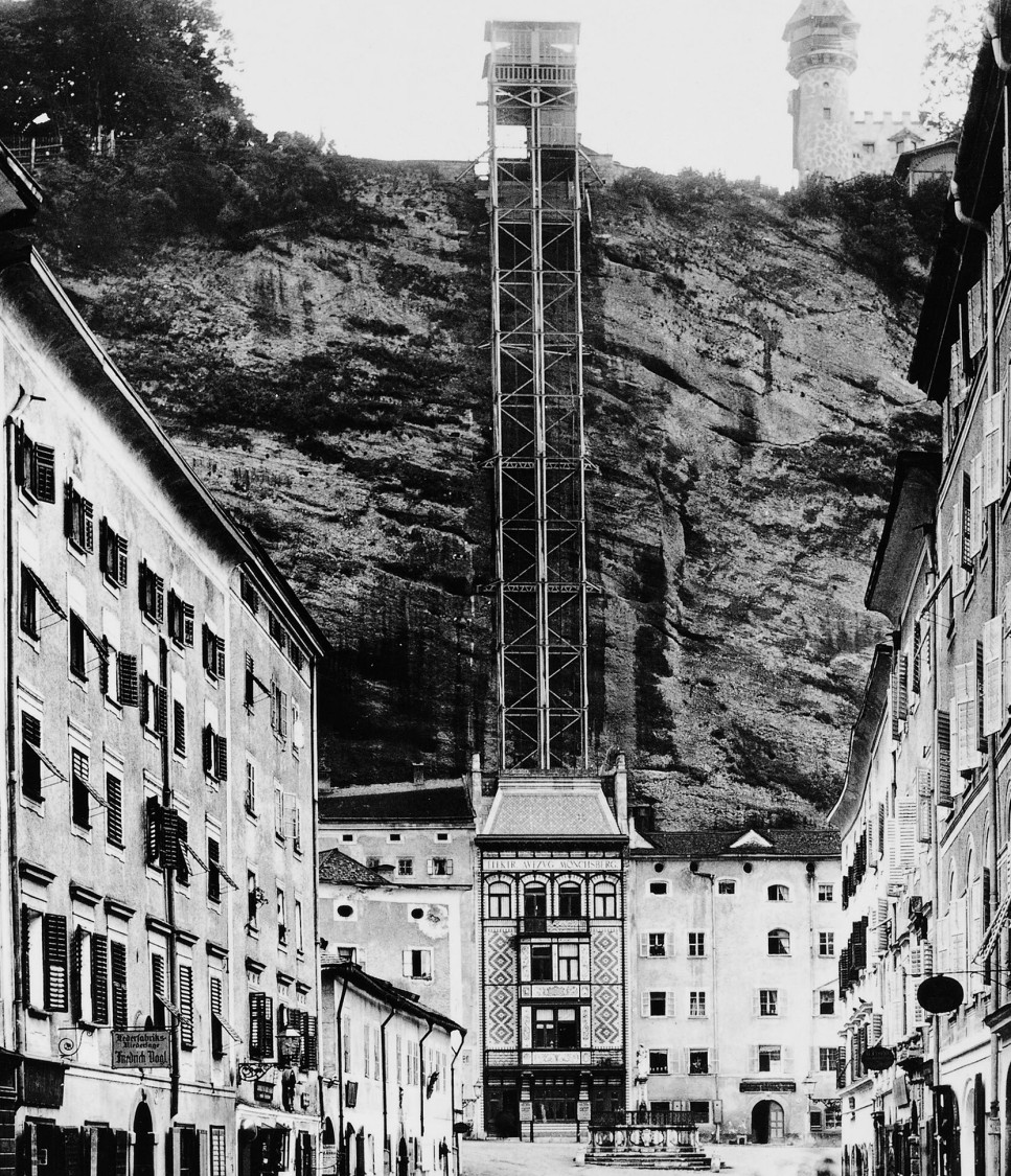 60 meters in two minutes – elevator on Mönchsberg in Salzburg, 1890