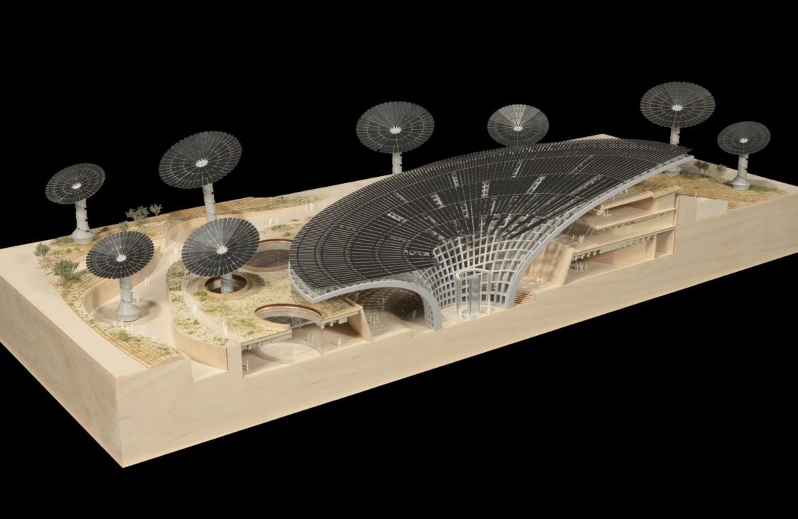 Architektenmodell des Nachhaltigkeits-Pavillons an der Expo 2020