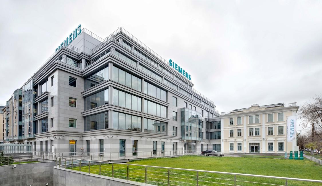 Siemens-Aushängeschild in Moskau – das neu errichtete Hauptquartier spiegelt die an modernen Maßstäben orientierte Siemens-Architektur wider: Funktionalität, Kosteneffizienz, Nachhaltigkeit und Designqualität, 2011