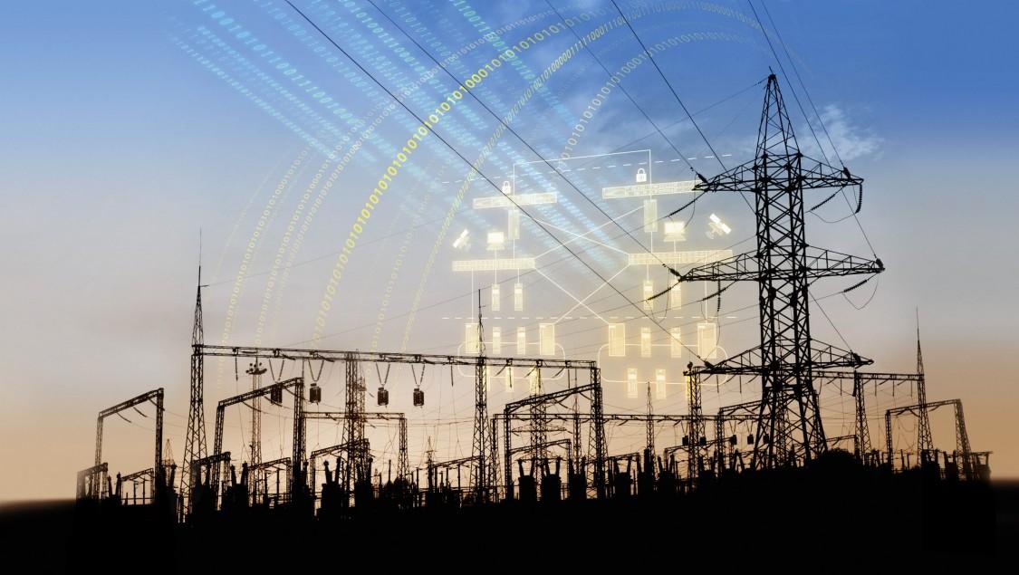 Distribuční síť elektrické energie u elektrárny