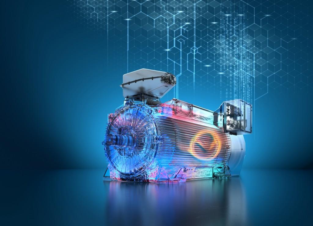 Das Bild zeigt den Simotics Hochspannungsmotor HV C air-cooled.