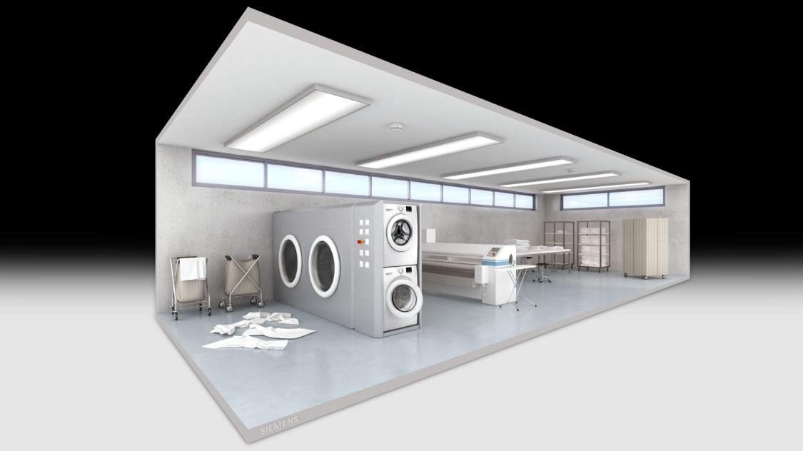 Brandschutz in Wäschereien und Waschküchen