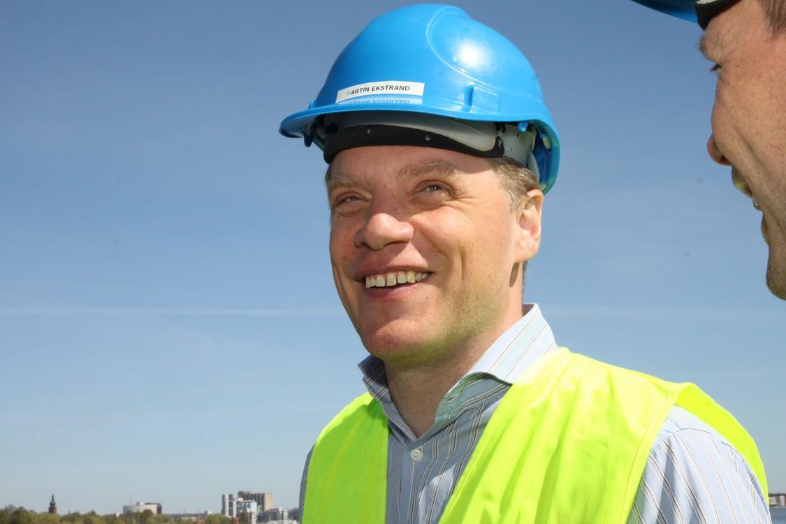 Martin Ekstrand är logistikchef på Cementa, högteknologisk cementtillverkare som satsar stora resurser på att utveckla nya produkter och användningsområden.