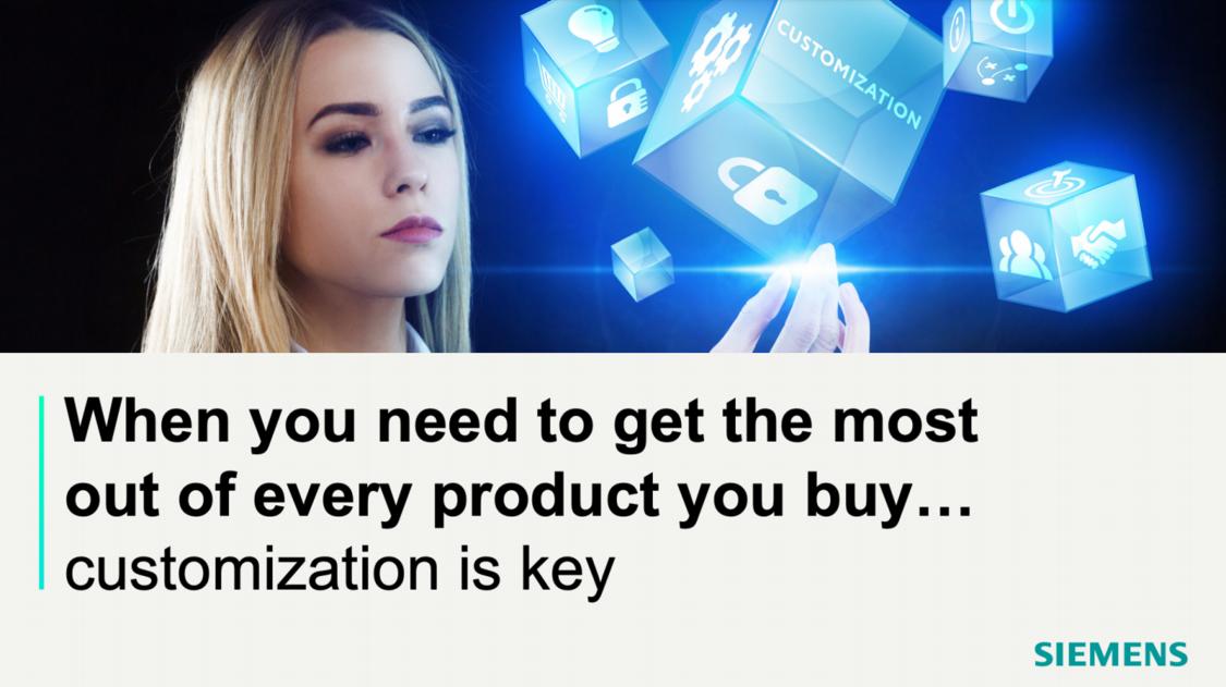 Customization is key image