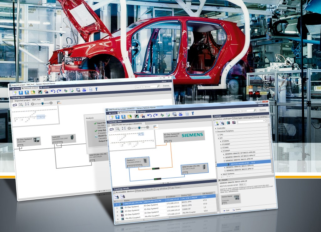 Planning and simulation tool for Profinet networks