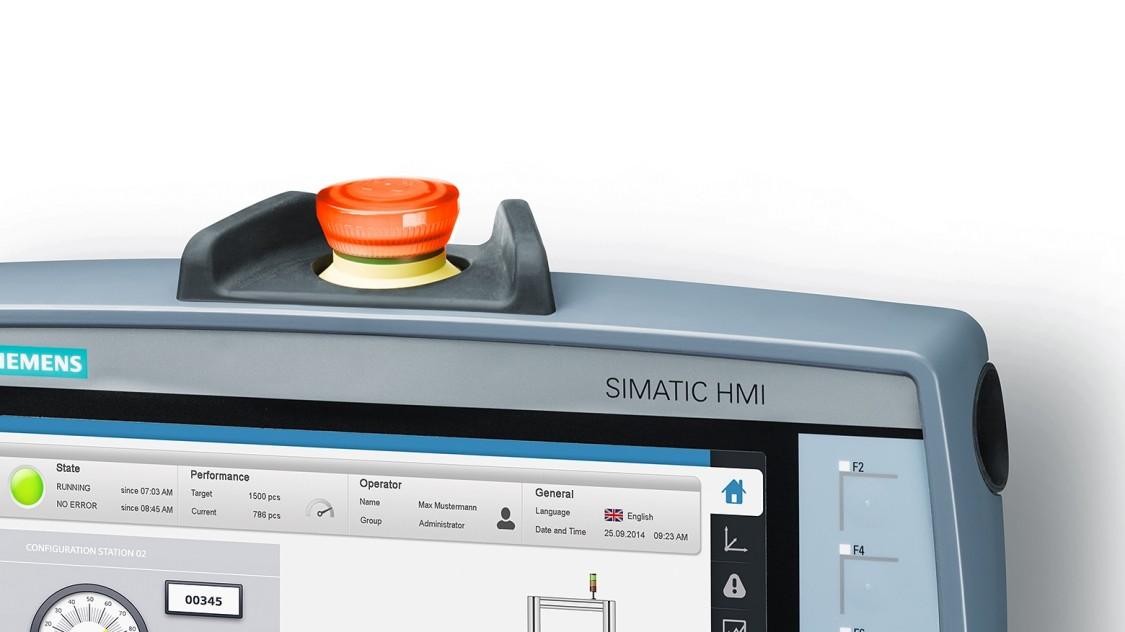 SIMATIC HMI Mobile Panel emergency stop button