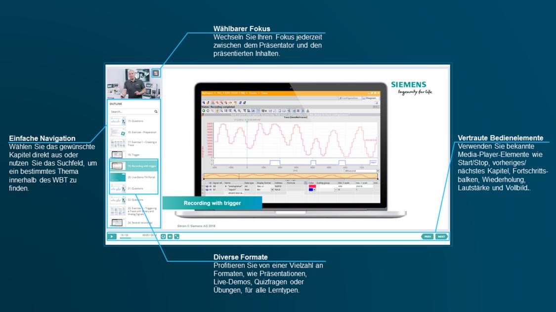 Übersicht: Framwork eines web based training