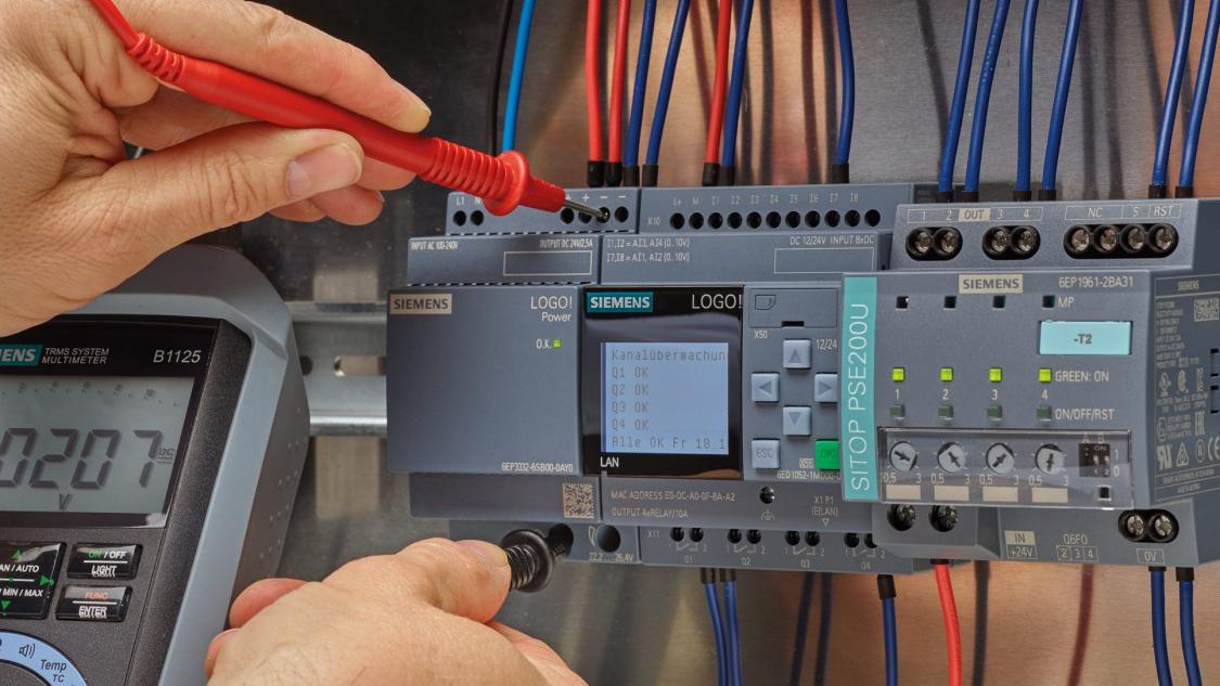 Obrázek: LOGO!Power – monitoring proudu