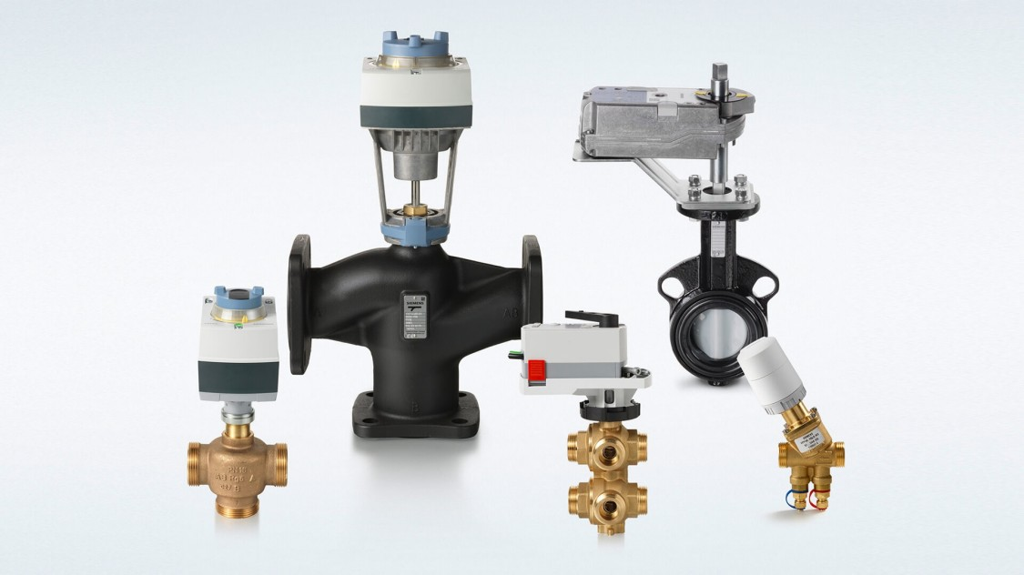 Product family picture valves and actuators