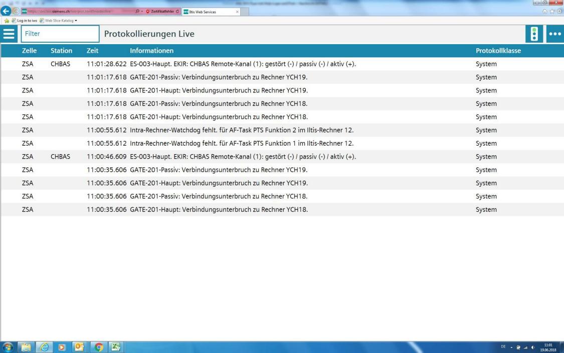 Iltis web logging service