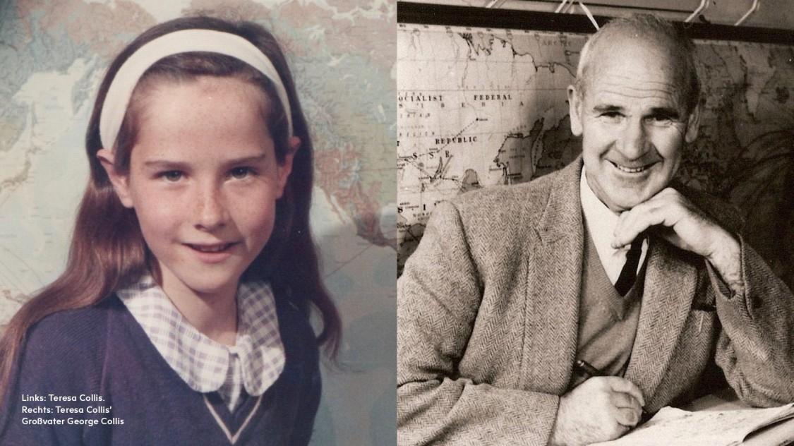 Teresa Collis und ihr Grossvater George Collis