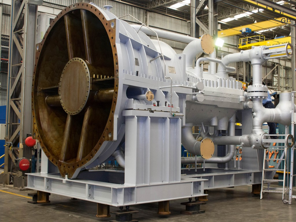 SST-400 steam turbine for Bolivia