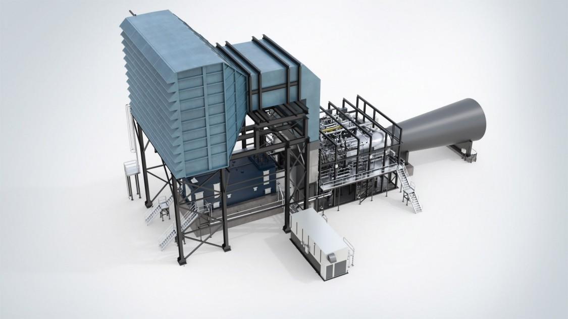 Комплект газовой турбины SGT6-8000H для многовальных установок