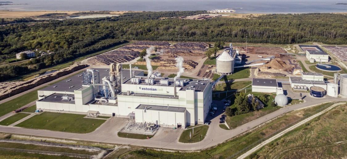 Estonian Cell pulp mill  Kunda Estonia