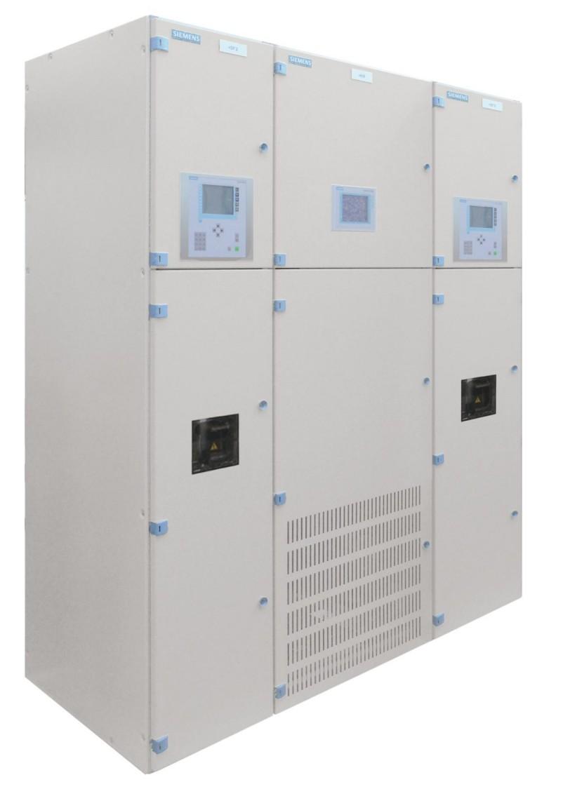Aparelhagem Sitras CSG compacta CC da Siemens para fonte de alimentação de tração CC.