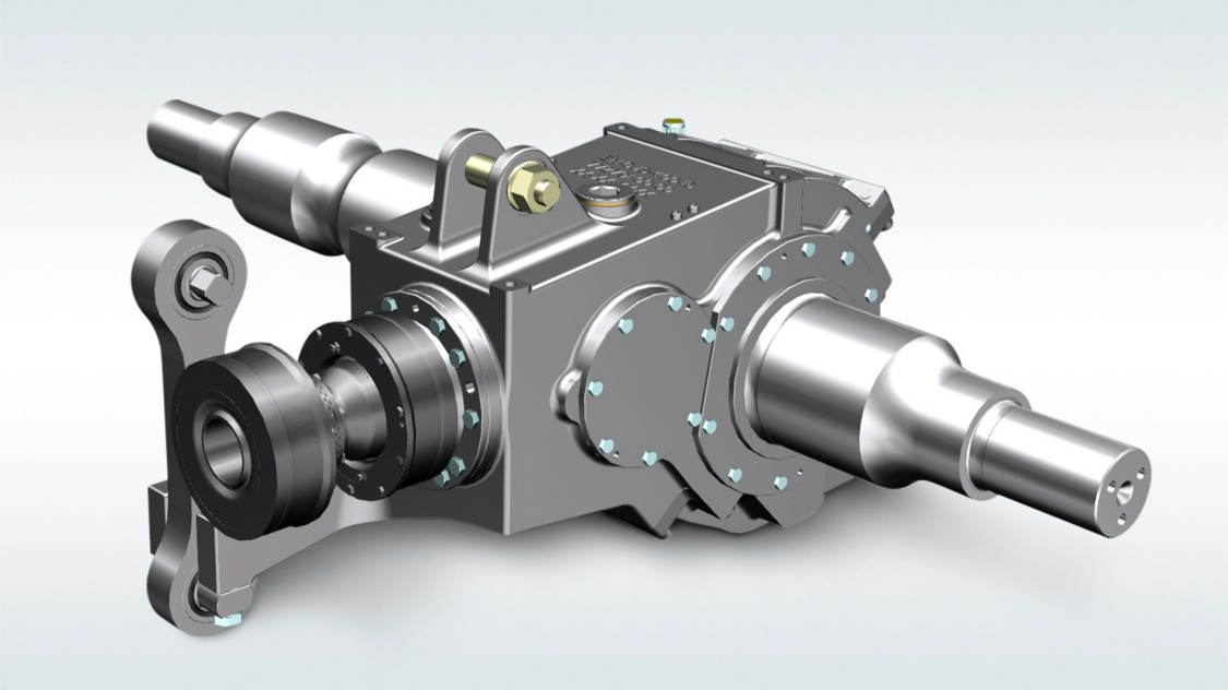Bevel-helical gear units for metros