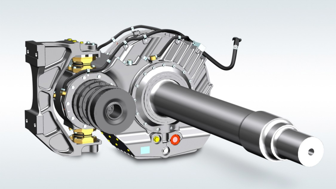 Helical gear units for high-speed trains