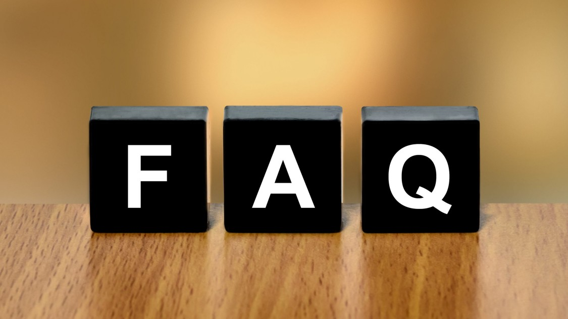 letter blocks spelling FAQ